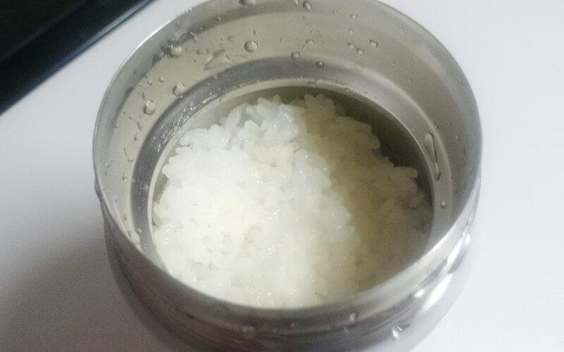 フードコンテナでご飯を炊く4