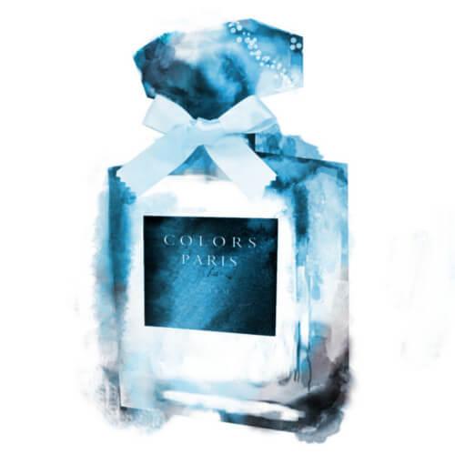 水彩ブラシ香水イラスト1