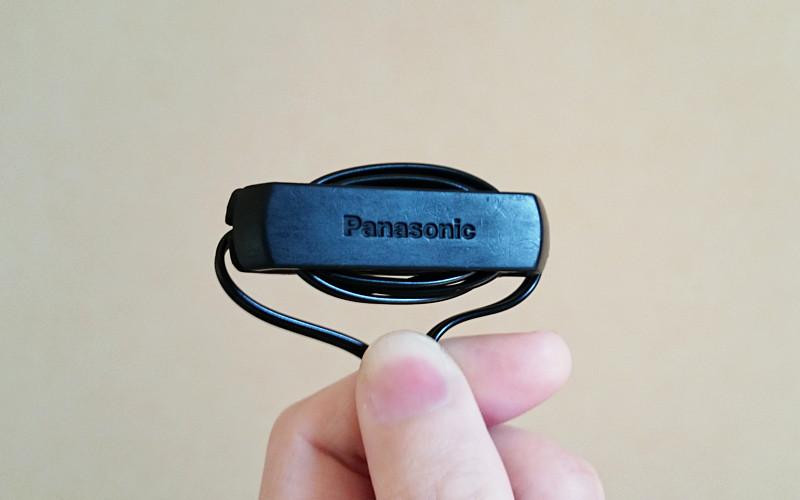 Panasonic製イヤホンRP-HJS150_ケーブルホルダー
