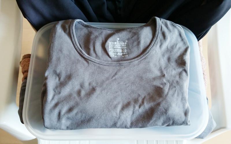 無印良品のクルーネックTシャツ