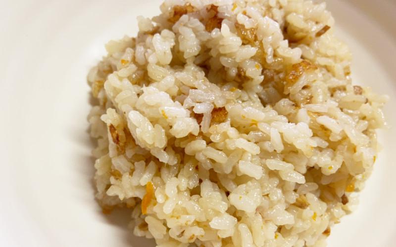 ちょい炊き鶏ゴボウ_炊飯後の米拡大
