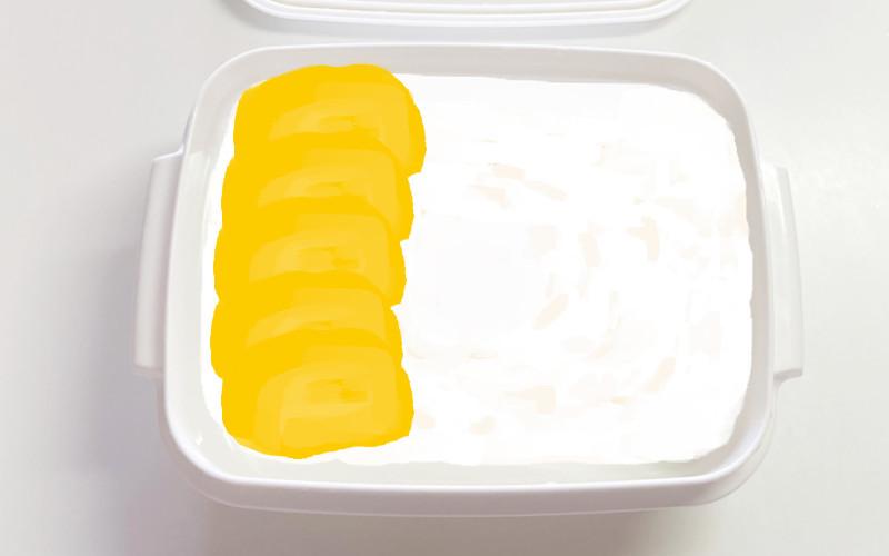 セリア弁当箱_白米卵焼き